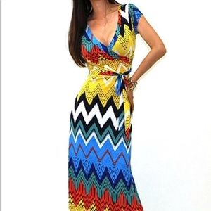 Dresses & Skirts - New! Casual Long Ankle Length Maxi Dress Abstract